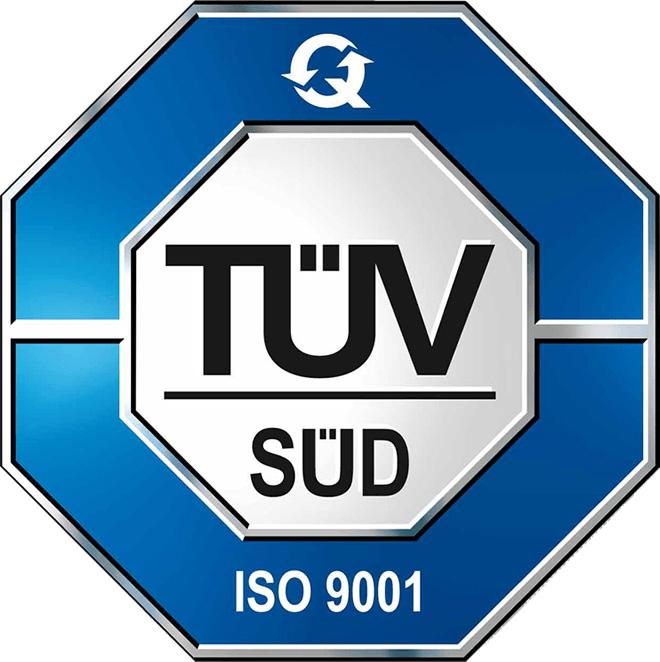 TÜV SÜD Siegel ISO 9001